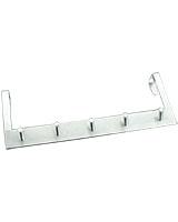 Over The Door 5 Hooks Bar - Metaltex