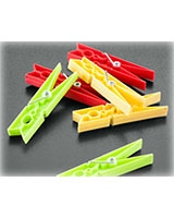 Set of 24 plastic pegs - Metaltex