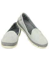 Women's Stretch Sole Microsuede Skimmer Light Grey/Stucco 201741 - Crocs