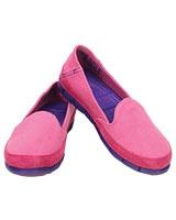 Women's Stretch Sole Microsuede Skimmer Candy Pink/Ultraviole 201741 - Crocs