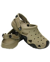 Men's Swiftwater Clog Khaki/Black 202251 - Crocs