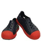 Kids' Crocs Bump It Shoe Navy/Flame 202281 - Crocs
