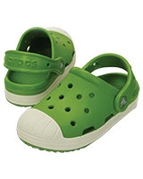 Kids' Crocs Bump It Clog Parrot Green/Oyster 202282 - Crocs