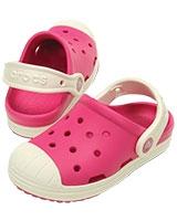 Kids' Crocs Bump It Clog Candy Pink/Oyster 202282 - Crocs
