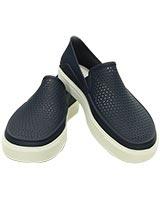 Women's CitiLane Roka Slip-on Navy/White 202363 - Crocs