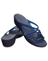 Women's Crocs Isabella Mini Wedge Cerulean Blue 202464 - Crocs