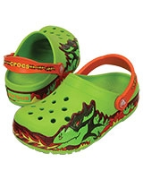 Kids' CrocsLights Fire Dragon Clog Volt Green 202661 - Crocs