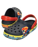 Kids' Crocband™ Superman™ Clog Navy/True Red 202680 - Crocs