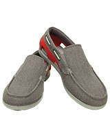Men's Beach Line Canvas Slip-on Graphite/Flame 202774 - Crocs