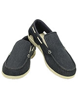 Men's Beach Line Canvas Slip-on Navy/Stucco 202774 - Crocs