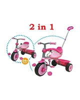 Tray Trike With Steering Handle 2 IN 1 With Footrest Pink - Trike Star