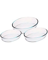 Set of 3 Pcs Oval Roasters - Pyrex