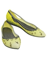 Women's Rio Leopard Fade Flat Burst/Graphite 203137 - Crocs