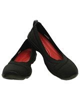 Women's Busy Day Stretch Flat Black/Black 203194 - Crocs