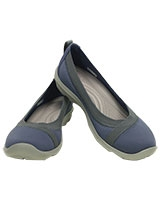 Women's Busy Day Stretch Flat Bijou Blue 203194 - Crocs