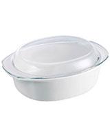 Oval Casserole 32cm/3.5L Vitroceramic White - Pyrex