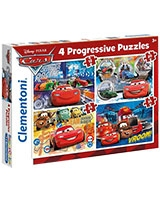 4 in 1 Puzzle Cars 12 + 20 + 24 + 35 - Clementoni