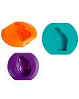 Silicon Circus Set of 3 moulds Flexi Twist - Pyrex