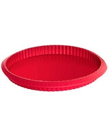 Silicon Flan Pan 28 cm Round Red - Pyrex