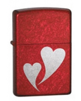 Double Hearts Red 24183 - Zippo