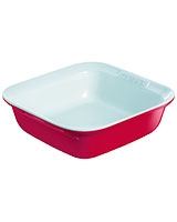 Ceramic Red Square Roaster 24 cm - Pyrex