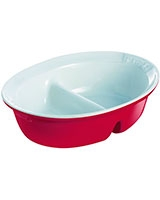 Ceramic Red Divider Oven Dish 28 cm - Pyrex