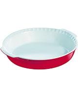 Ceramic Red Round Pie Dish 26 cm  - Pyrex