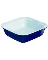 Ceramic Blue Square Roaster 24 cm - Pyrex