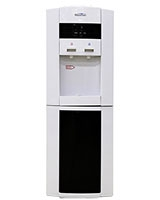 Cold & Hot Water Dispenser with Referigerator White & Silver in black MT-2525 - Media Tech