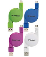 Retractable Flat Micro USB To USB Cable - Enercell