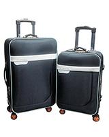 Long jin & Xiang bao Travel Set Bag 2 Pieces Black