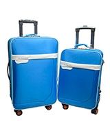 Long jin & Xiang bao Travel Set Bag 2 Pieces Blue