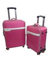 Long jin & Xiang bao Travel Set Bag 2 Pieces Pink