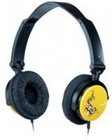 Foldable Headband Headset HS-410F Yellow - Genius