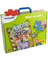 Small animals with numbers puzzle 36001 - Miniland