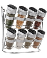 Set of 8 bottle Bamboo Spice Racks 0063562555906 - Trudeau