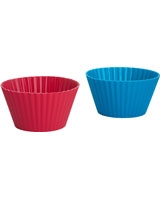 Set of 4 Silicone Large Muffin Cups 9 cm - Trudeau