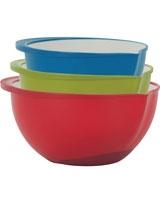 Set of 3 Polypropylene Bowls - Trudeau