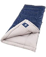 Brazos Cold Weather Dark Blue Sleeping Bag - Coleman