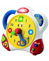 Bilingual Learning Clock (English / Spanish) - Happy Kid