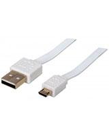 Flat Micro-USB Cable 1.8 m 391849- Manhattan