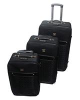 Jiaxin Travel Set Bag 3 Pieces Black S