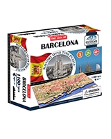 Barcelona City Time Puzzle - 4D City Scape