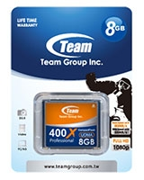 CF 400X 8GB Memory Card - Team