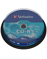 CD-R Extra Protection 700MB 10 PK Spindle - Verbatim