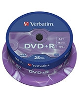 DVD+R Matt Silver 4.7GB 25 PK Spindle - Verbatim