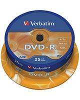 DVD-R Matt Silver 4.7GB 25 PK - Verbatim