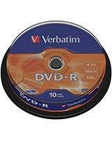 DVD-R Matt Silver 4.7GB 10 PK - Verbatim