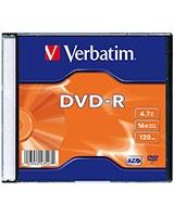 DVD-R Matt Silver 4.7GB 16X 1 PK - Verbatim