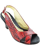 Heeled Sandal 10/22 5cm Red - Oryx